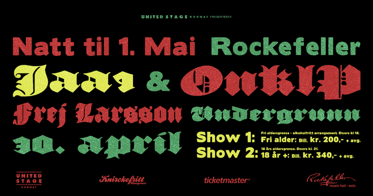 9p natt til første konsert rockefeller